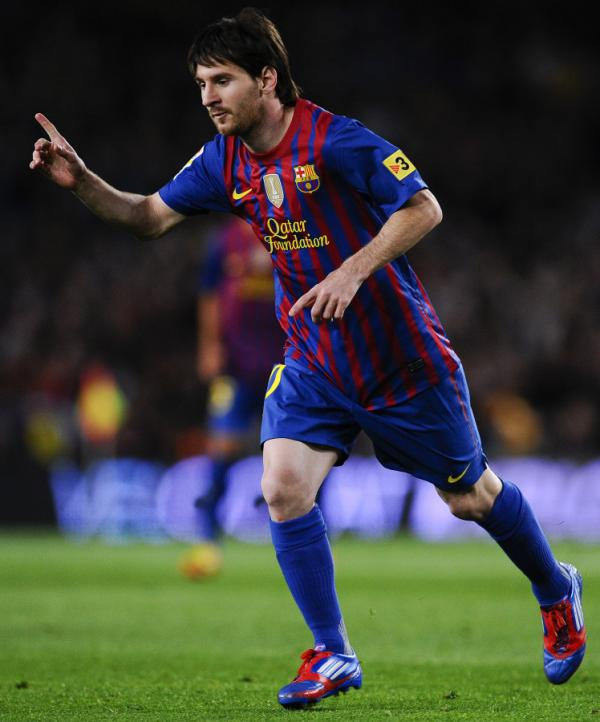 Lionel Messi of Barcelona during a match Saturday against RCD Espanyol.