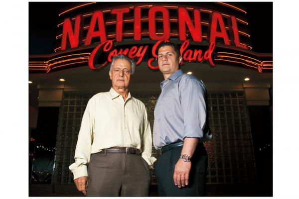 The late James Gifto (left) and Tom Giftos Jr. built  National Coney Island, an empire of more than 20 restaurants — in some cases, with three in a single town.<br /><br />