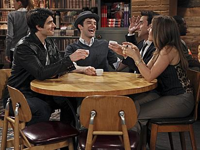 Brandon Routh, Michael Urie, David Krumholtz and Sophia Bush of <em>Partners</em>.