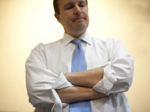 Rep. Chris Murphy at a job fair he sponsored in New Britain, Conn., on Thursday.