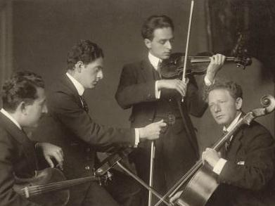 The Budapest String Quartet in 1919.