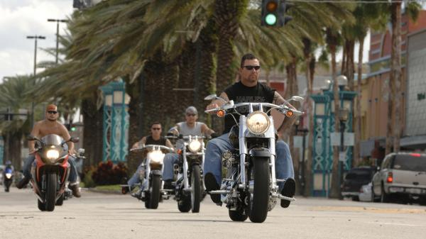 "Annual ""Biketoberfest"" participants ride along Beach Street in downtown Daytona Beach, Fla., in 2010."