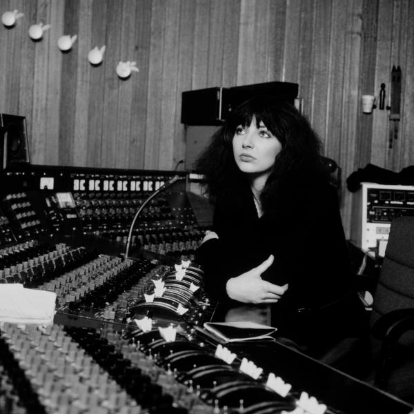 Kate Bush in Studio 2's control room at a Mark IV desk.