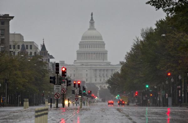 Washington, D.C. is bracing for heavy rains and high winds as Hurricane Sandy approaches.
