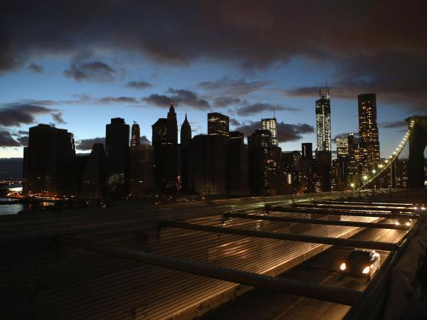 Hurricane Sandy exposed weaknesses in New York City's electricity grid. Experts say work can be done to revamp it so it's more tolerant to support backup solar power. Here, the New York City skyline, seen from the Brooklyn Bridge, on Nov. 3.