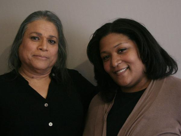 Alexis Martinez (left) worried that coming out to daughter Lesley as transgender would mean giving up any relationship with her grandchildren. But she needn't have worried.