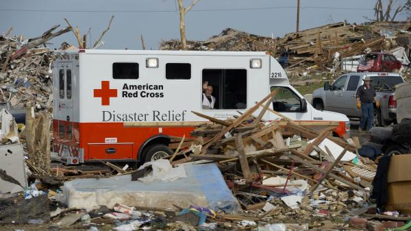 Relief agencies like the American Red Cross say monetary donations give them the greatest flexibility to address victims' needs.