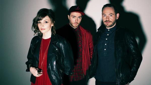 The electronic band Chvrches comprises Lauren Mayberry, Martin Doherty (center) and Iain Cook.