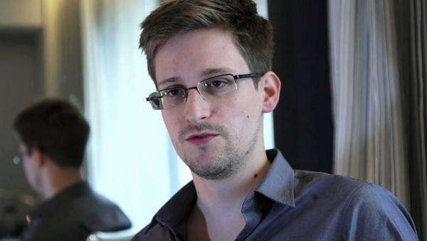 Edward Snowden, seen here in a photo provided by <em>The Guardian</em>, is a finalist for the Sakharov Prize. Earlier this year, Snowden leaked classified information about secret U.S. surveillance programs.