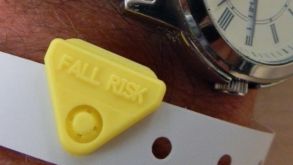Some patients at MultiCare Auburn Medical Center in Washington are given wristbands showing that they have a high risk of falling.