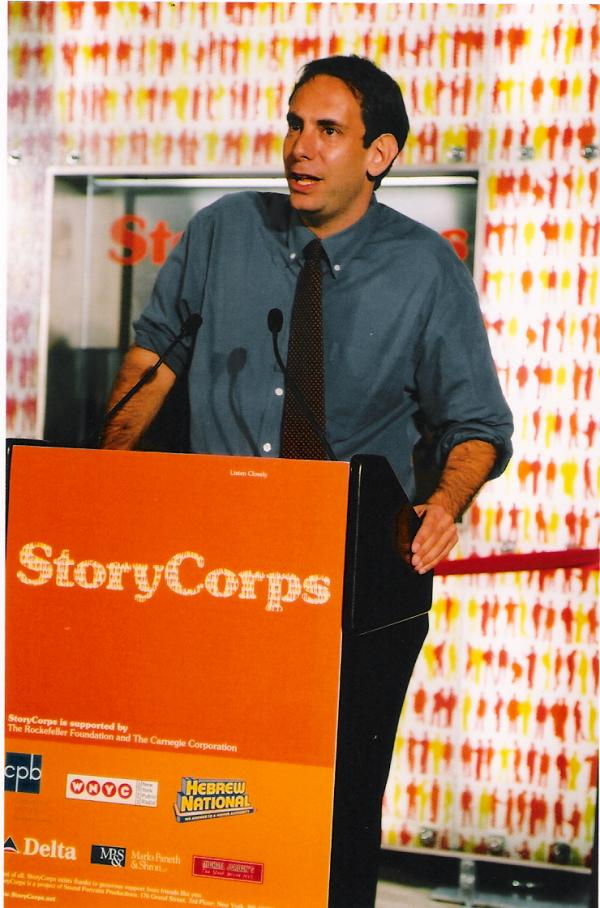 StoryCorps Founder Dave Isay introduces the Grand Center Terminal studio at its launch in 2003.