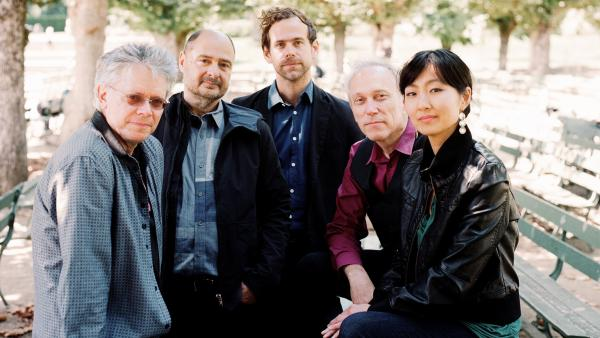 Kronos Quartet's new album, <em>Aheym</em>, comes out Nov. 5. All the music on this album was composed by Bryce Dessner (center) of the rock group The National.