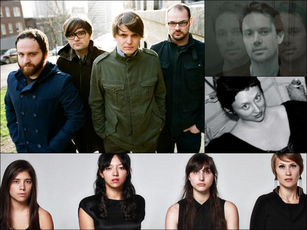 Clockwise from upper left: Death Cab For Cutie, Milosh, Swearin', La Luz