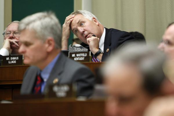In a hearing Wednesday, Rep. John Shimkus of Illinois questions Health and Human Services Secretary Kathleen Sebelius about which insurance plans offer abortion services.