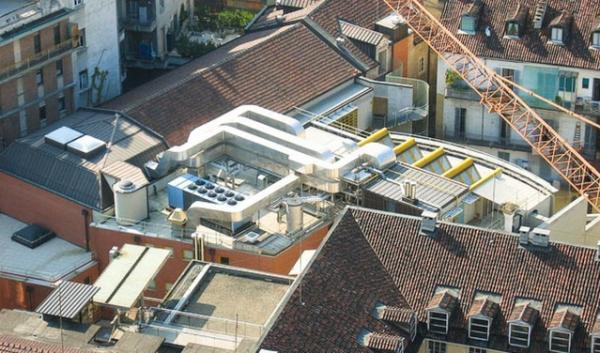 A new, highly efficient rooftop heating and cooling unit could reduce a commercial building's energy costs by an average of 41 percent.