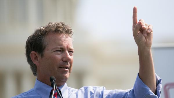 Sen. Rand Paul (R-KY) speaks during a rally on Sept. 10 in Washington, D.C.