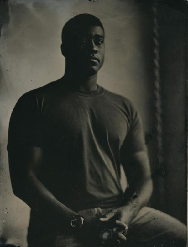 A tintype self-portrait of Ed Drew. (Ed Drew, Courtesy of the Robert Koch Gallery)
