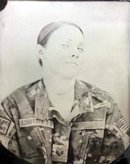 A tintype made by Ed Drew in Afghanistan. (Ed Drew, Courtesy of the Robert Koch Gallery)