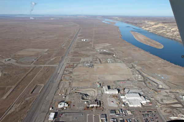 File photo of Hanford's 300 Area, near the Columbia River, after the clean-up of about 50 acres.