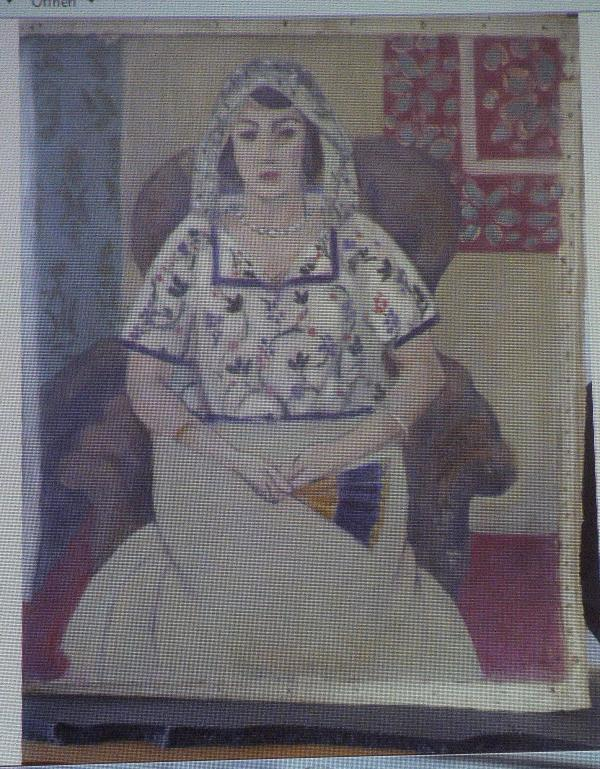 "A painting by Henry Matisse, <em>Sitzende Frau</em> (""Sitting Woman"")."