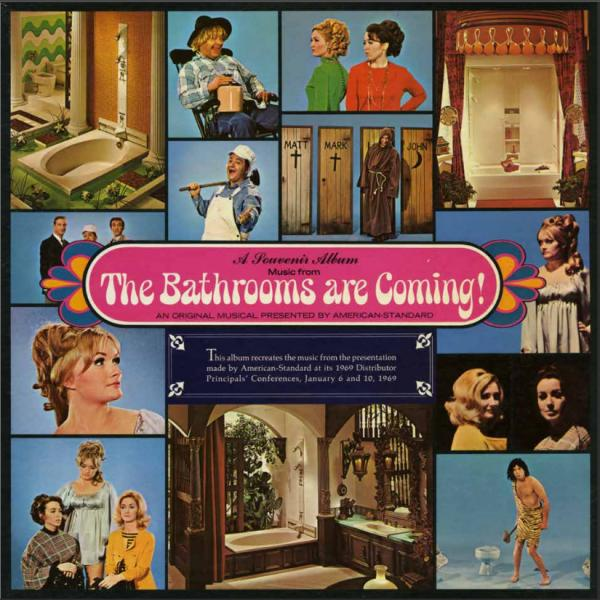 """Steve Young learned about industrial musicals when he started coming across compilations, like this one, in used record stores. (You definitely want to <a href=""""http://media.npr.org/assets/img/2013/11/05/bathroomscover_custom.jpg"""">click to enlarge this</a>.)"""