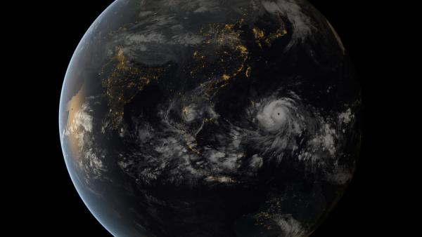From space, Typhoon Haiyan was almost beautiful. On the ground, it wasn't so pretty.