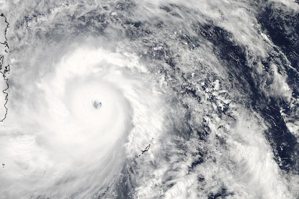 This satellite image, taken from the MODIS instrument aboard NASA's Aqua satellite, shows Typhoon Haiyan approaching the Philippines on Thursday.