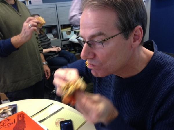 On Sandwich Monday, this counts as an action shot.
