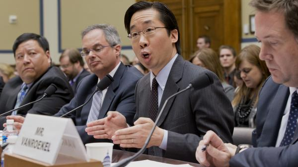 "Todd Park, U.S. chief technology officer, answers questions in a House Oversight Committee hearing about problems with the federal HealthCare.gov site. One Democrat on the committee called the hearing ""a kangaroo court."""