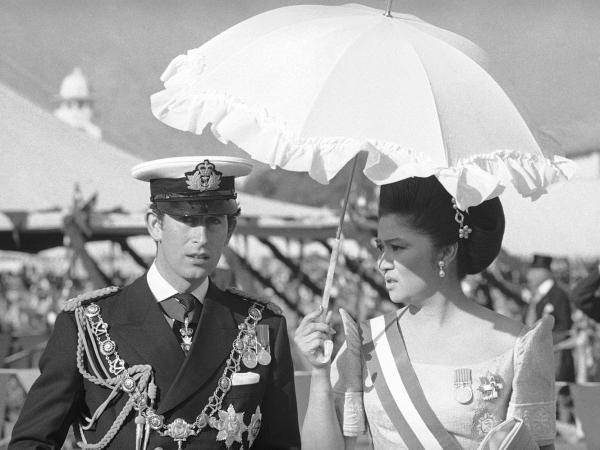 Imelda Marcos, the former first lady of the Philippines, is shown with Britain's Prince Charles at the 1975 coronation ceremony for Nepal's King Birendra. Marcos, now 84 and a member of Parliament, is from Tacloban.