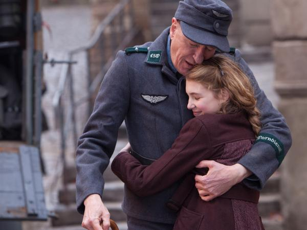Sophie Nelisse stars alongside Oscar-winning actor Geoffrey Rush. She says she didn't know who he was before the film.