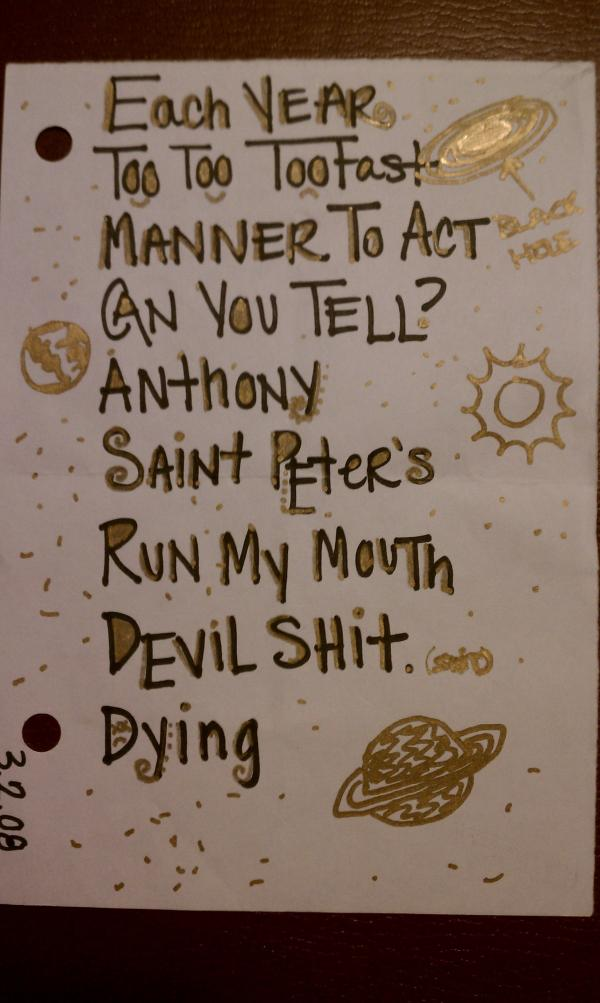 "<p>Ra Ra Riot at Funk 'n Waffles (Syracuse, NY), Mar. 4, 2008.</p><p><em>""They apparently recycled the setlist from their 3/2/08 show.""</em> - Travis B.</p><p></p>"