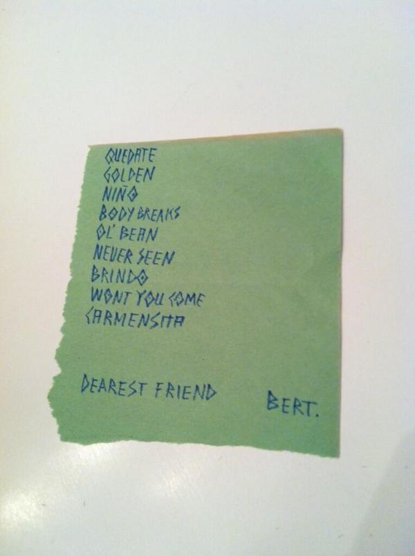 "<p>Devenda Banhart at the Bowery Ballroom (New York City, NY), Oct. 28, 2012.</p><p><em>""[He] opened for Swans </em><em>on the eve of Hurricane Sandy.""</em> - @oh_starship</p>"