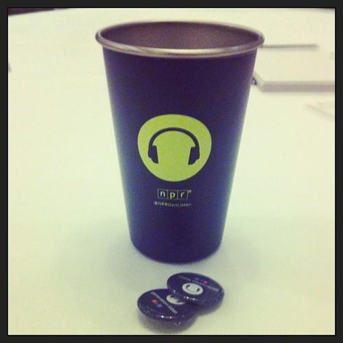 Guests at the panel were treated with Generation Listen branded swag.