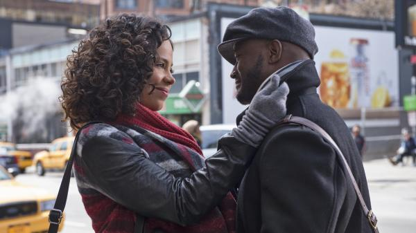 Sanaa Lathan and Taye Diggs star in <em>The Best Man Holiday</em>.