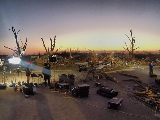 Sunrise in Washington, Ill., after tornadoes swept through the Midwest on Sunday.