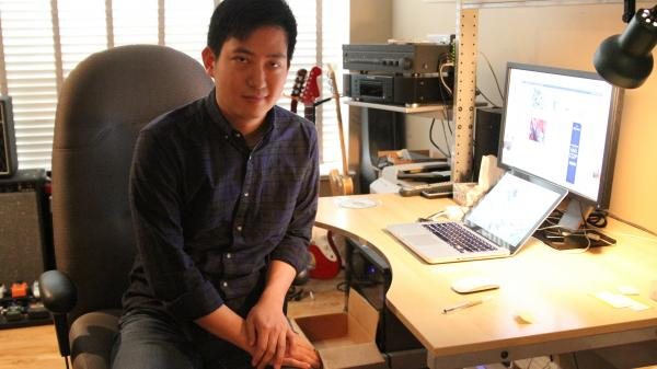 Frank Yang, founder of the Canadian music blog <em>Chromewaves</em>.