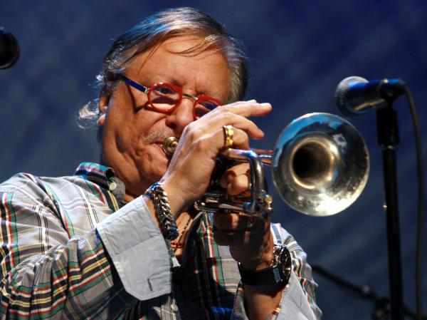 Cuban jazz trumpeter Arturo Sandoval receives the Presidential Medal of Freedom on Wednesday.