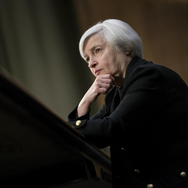 Janet Yellen during her confirmation hearing earlier this month. She's expected to win Senate approval to take over as head of the Federal Reserve.