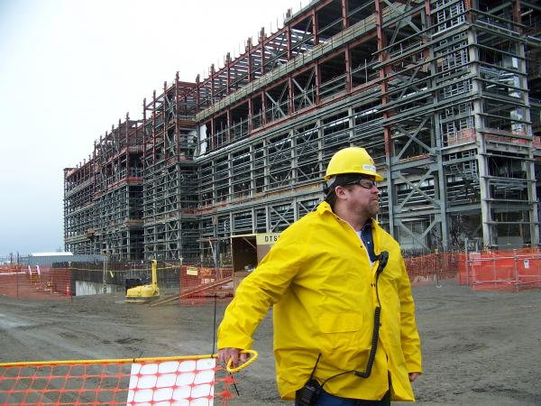 File photo of the under-construction waste treatment plant at Hanford.