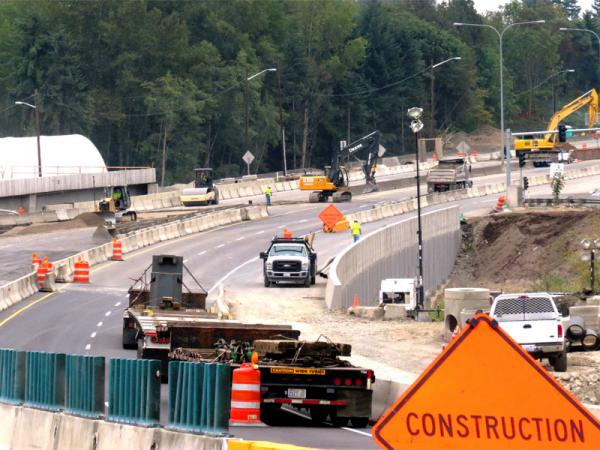File photo of road  work on SR 520.