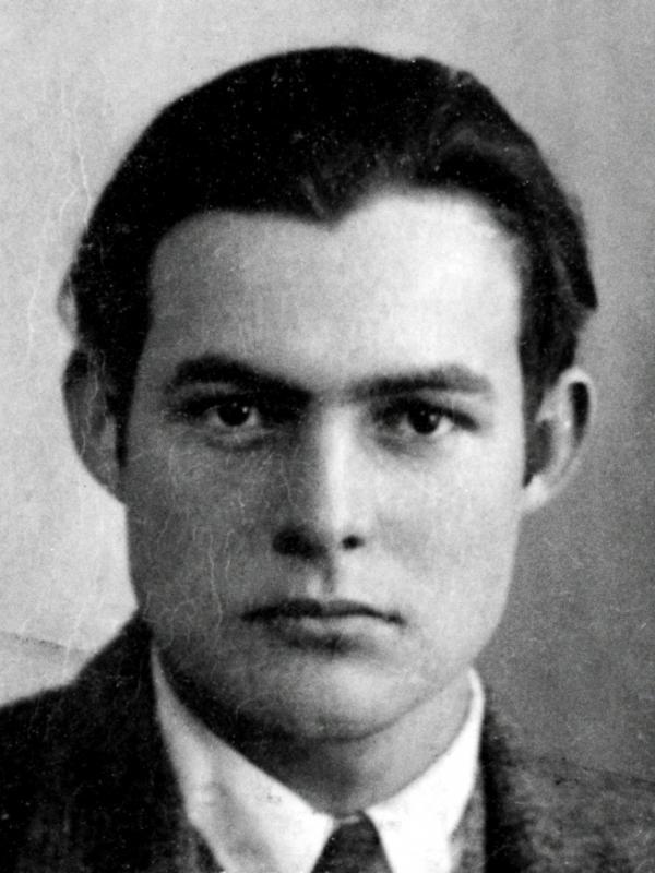 Expatriate Ernest Hemingway, 1923