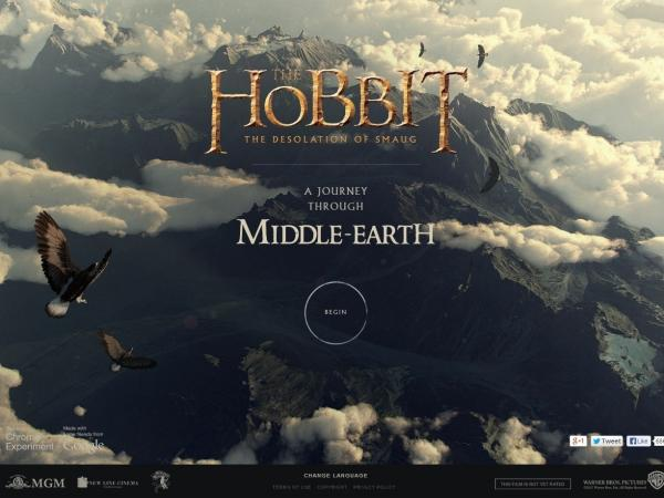 "<a href=""http://middle-earth.thehobbit.com/"">Click here</a> to tour Middle-Earth."