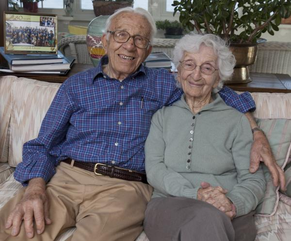 John Betar, 102, and his wife Ann, 98, at their home in Fairfield, Conn. They eloped on Nov. 25, 1932.