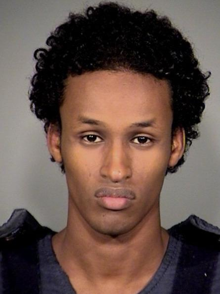 Mohamed Osman Mohamud, then 19, is shown after his arrest on Nov. 26, 2010, in Portland, Ore. Mohamud was convicted of planning to detonate a bomb during a Christmas tree-lighting ceremony, but his sentencing is on hold after revelations that investigators relied to some degree on NSA surveillance.
