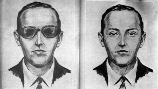 An undated artist's sketch provided by the FBI shows a rendering of the skyjacker known as 'Dan Cooper' and 'D.B. Cooper', from the recollections of passengers and crew. (FBI)