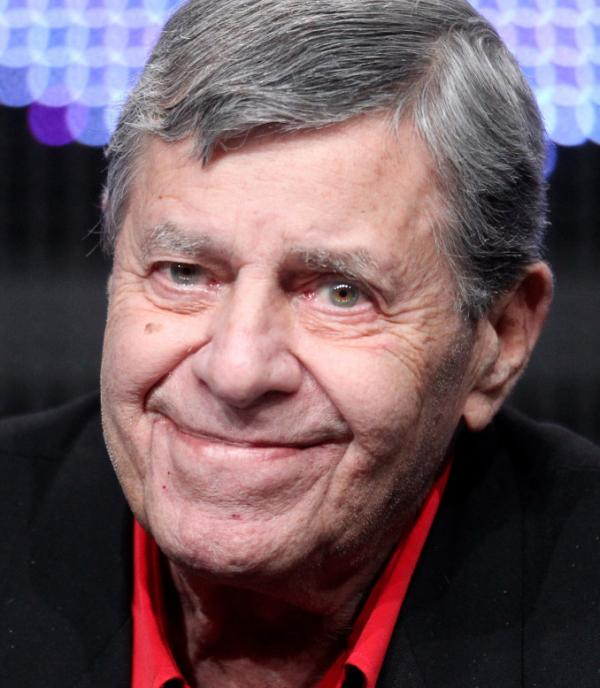 "Jerry Lewis speaks during ""The Method to the Madness of Jerry Lewis"" panel at Television Critics Association Tour in Beverly Hills."