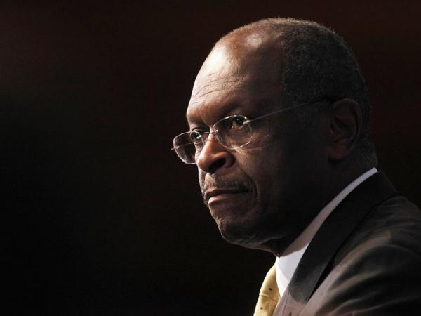 <p>Republican presidential candidate Herman Cain speaks at the National Press Club in Washington, D.C., on Monday.</p>