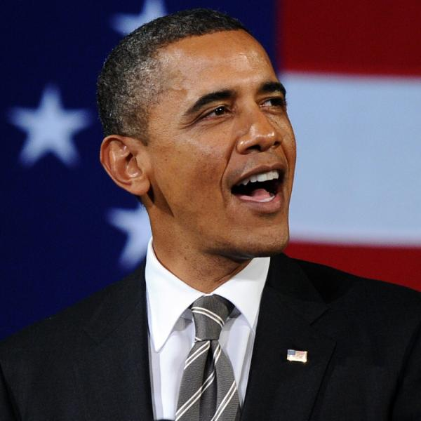President Obama at the Apollo Theatre in Harlem on Thursday (Jan. 19, 2012).