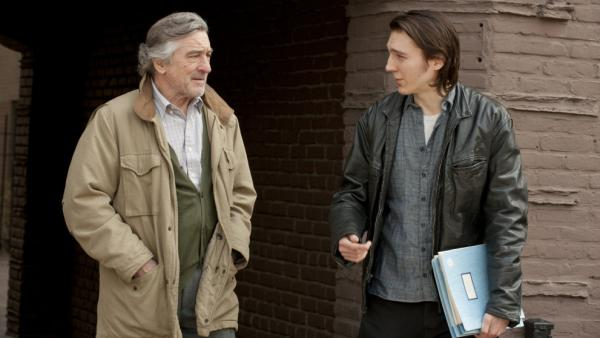 Robert De Niro (left) plays Jonathan Flynn, the father of writer Nick Flynn (played by Paul Dano) who shows up at his son's workplace: a homeless shelter.